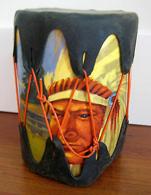 Vintage Toy American Indian Tam Tam Drum Collectable 1960S