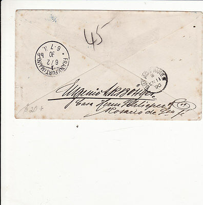 Argentina : Vintage Prepaid Stationery Cover To Germany  1890    H