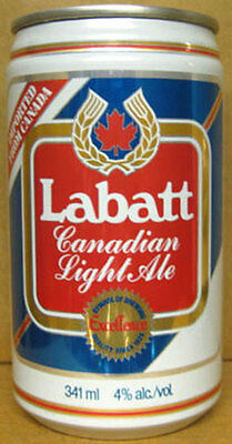 LABATT CANADIAN LIGHT ALE 341ml Beer CAN, Toronto, CANADA, IMPORTED, 1982