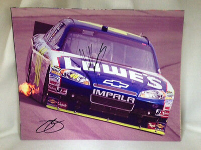 NASCAR Jimmie Johnson and Chad Knaus Autographed Dual Signed 8x10 Picture