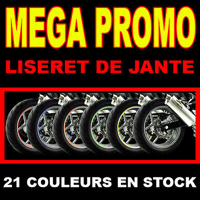 LISERET JANTE STICKER AUTOCOLLANT MOTO HONDA - DISPO EN 6 / 8 / 10 mm