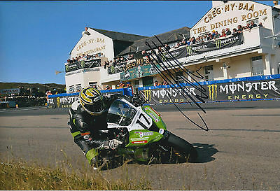 James HILLIER SIGNED Autograph Photo AFTAL COA IOM TT Kawasaki NINJA Supertwin