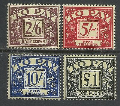 Great Britain stamps 1959 SG D65-D68  MLH  VF