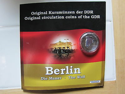 East Germany - German Democratic Rep. 6 Coins with Piece Of The Berlin Wall