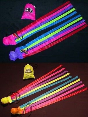 'Rainbow Poi' by Erik's Poi Toys - 5 Ribbon Tail Twirling Practice - Juggling