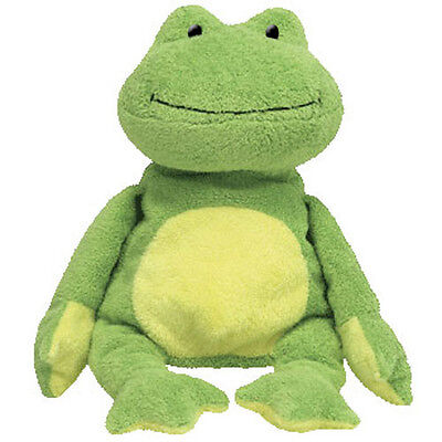TY Pluffies - PONDS the Frog (Plastic Eyes) (10 inch) - MWMT's