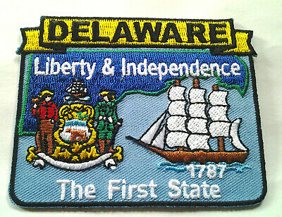 *** DELAWARE STATE MAP *** Biker Patch PM6708 EE