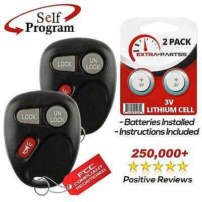 2 New Replacement Keyless Entry Remote Key Fob Transmitter Beeper for 15042968