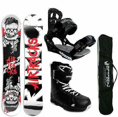 SNOWBOARD SET AIRTRACKS TABLA HIPSTER+FIJACIONES+BOTAS+BAG/150 153 159 164/NUEVO