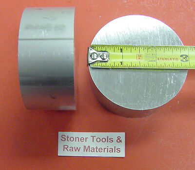 """2 Pieces 3"""" ALUMINUM 6061 ROUND ROD 2.25"""" long T6511 Solid Lathe Bar Stock 3.00"""""""