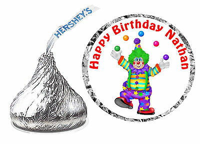 216 CARNIVAL CIRCUS CLOWN BIRTHDAY PARTY FAVORS HERSHEY KISS KISSES LABELS (JGL)