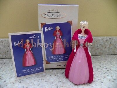Hallmark 2002 Barbie Sophisticated Lady Fashion Christmas Ornament