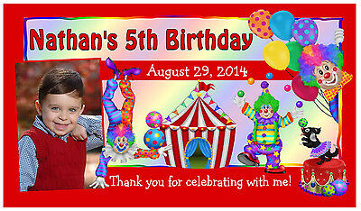 12 CIRCUS CARNIVAL CLOWN BIRTHDAY PARTY FAVORS PHOTO MAGNETS