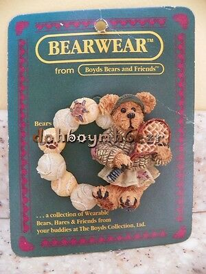 Boyds Bears and Friends Tennis Bear Bearwear Lapel Pin