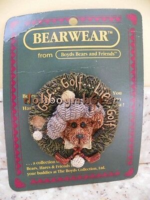 Boyds Bears and Friends Golf Bear Bearwear Lapel Pin