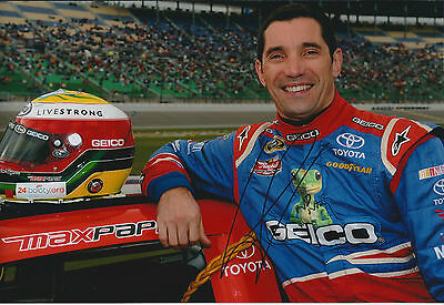 Max PAPIS SIGNED NASCAR Winner Champion 12x8 Photo AFTAL COA Autograph