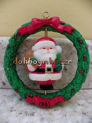 Vintage Rare Hallmark Ambassador 1981 Tree Trimmer Santa Twirl-About Ornament