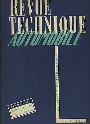 (C5)Revue Technique Automobile Simca 8-1200 / Jeep