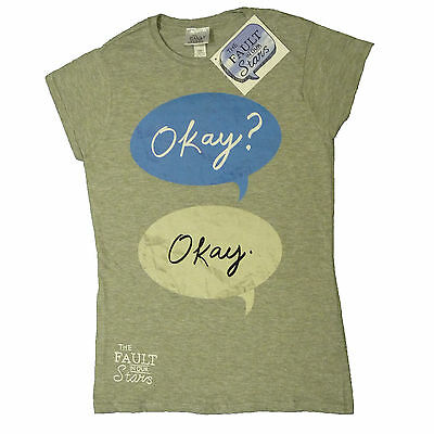 The Fault in Our Stars Okay? Okay Augustus John Green OFFICIAL Fitted T    16E