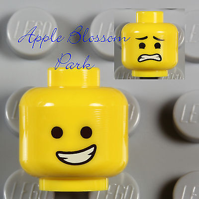 LEGO NEW MINIFIGURE HEAD WITH GOTEE AND SMILE TOW CITY BOY PART