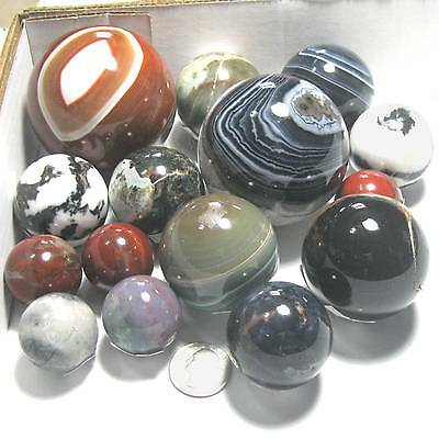 Agate-Jasper round ball/sphere/marble rock Select stone, size & price L1