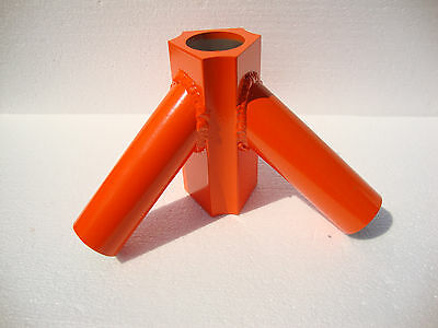 "Antenna Radio Tower Aluminum Orange Tripod For Use With Military 48"" Mast Pole"