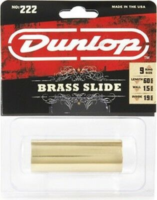 Jim Dunlop Guitar Slide 222 Solid Brass. For All Styles Of Playing.