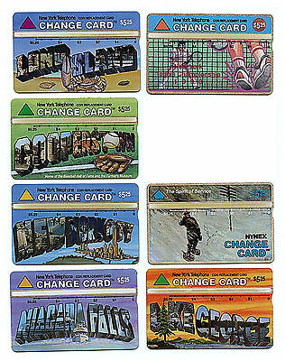 NYNEX New York City Phone Card $5.25 Face Value NYT 7 Card Lot New Z6