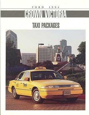 1994 Ford Crown Victoria Taxi Sales Brochure - Mint