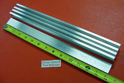 "5 pieces 1/4"" X 3/4"" ALUMINUM 6061 FLAT BAR 14"" long T6511 Solid New Mill Stock"