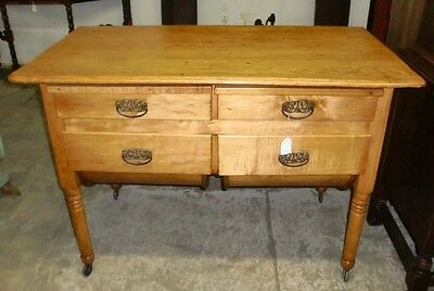 Antique Possum Belly Drawer Baker's Table Cabinet