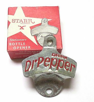 Original Vintage Starr X Dr Pepper Flaschenöffner Wandmontage Bottle Opener