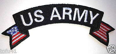 US ARMY With Flags  Military  Veteran  Biker Rocker Patch P2846 E