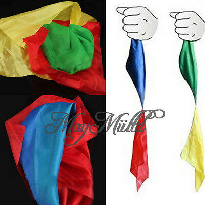 New Change Color Silk Scarf For Magic Trick Props Magic Tools Toys Practical S