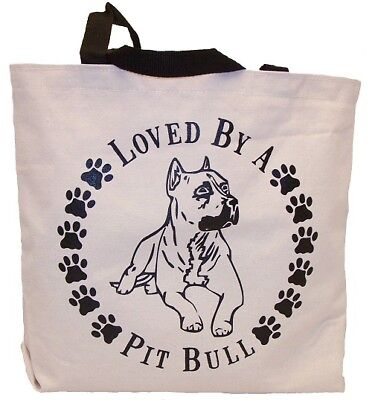 Loved By A Pit Bull Tote Bag New  MADE IN USA