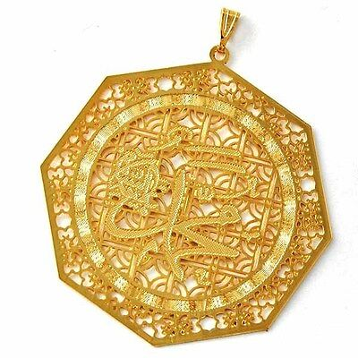 Retro Vintage Hollow out Womens /Unisex Pendant Yellow Gold Filled  D1567