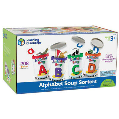 Learning Resources Alphabet Soup Sorters Educational Toy NEW