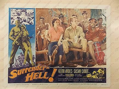 1959 SURRENDER HELL Keith ANDES Susan CABOT John BARNWELL Manifestino LOBBY CARD