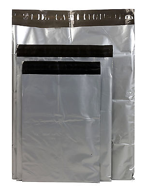 Grey Polythene Plastic Mailing Postal Bags Strong Peel & Seal Postage Packing