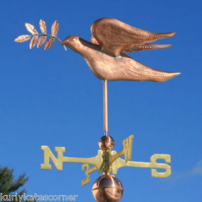 Sweet Copper Peace Dove Weathervane  #297  Made In Usa