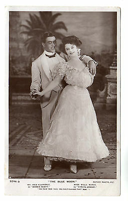 The Blue Moon - Real Photo Postcard 1905 / Play / Actors
