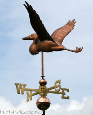 Heron Copper Weathervane With Copper Balls And Brass Directionals #112