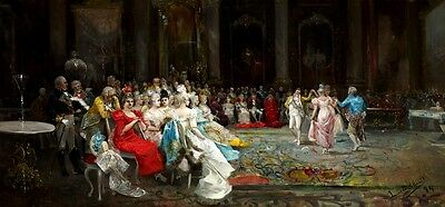 Dance At The Palace Royal 1894 Spanish Painting By Eugenio Lucas Villaamil Repro
