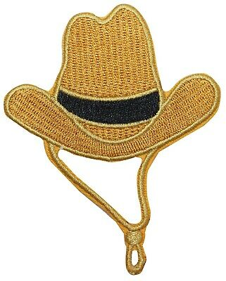 8c9fc5ad763 ID 7661 COWBOY Hat Patch Western Ten Gallon Cap Embroidered Iron On ...