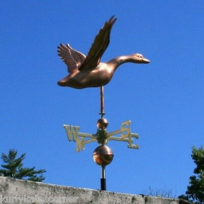 Copper Goose Weathervane With Copper Balls And Brass Directionals #215