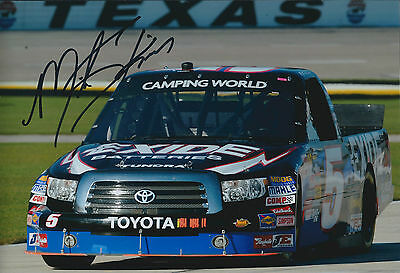Mike SKINNER SIGNED NASCAR Truck Series 12x8 Toyota Photo AFTAL COA Autograph
