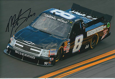 Mike SKINNER SIGNED NASCAR Daytona 12x8 Chevrolet Photo AFTAL COA Autograph