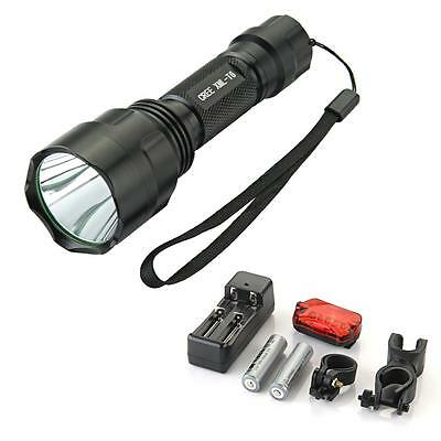 CREE XM-L T6 LED Bike Bicycle Light Flashlight Torch SET +Charger +18650 1300lm