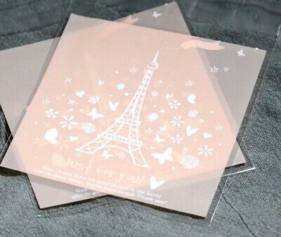 Self-adhesive Cello Sweet Treat Display Favor  Party Bag Eiffel Tower Cellophane