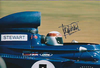 Jackie STEWART SIGNED Autograph Ford TYRRELL World Champion12x8 Photo AFTAL COA